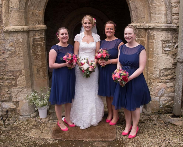 The bride and her bridesmaids. Hair by Fringe Hair & Beauty.